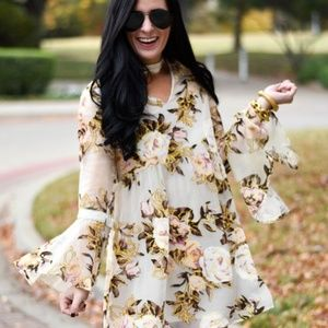 Impeccable Pig floral wonder long sleeve dress